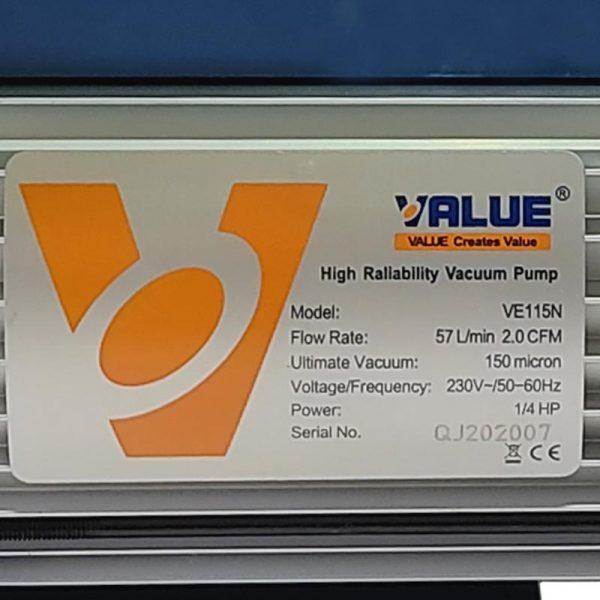پمپ وکیوم ولیو(value) ve115n